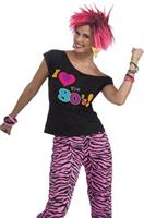 Women's 80's T-Shirt Costume