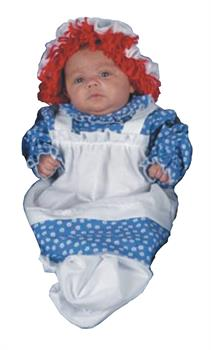 Girls Raggedy Ann Bunting Costume - 3-9 months for Halloween