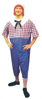 Men's Raggedy Andy Costume - Plus