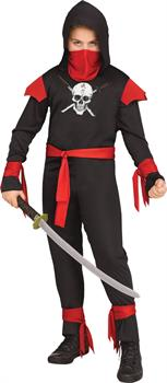SKULL NINJA BLACK CHILD Costume