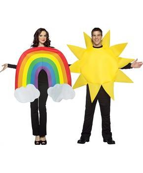 Rainbow And Sun Couples Costume