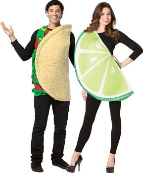 Lw Taco And Lime Slice Couple Costume