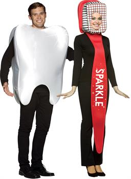 Tooth And Tooth Brush Couple Costume