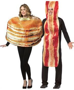 Pancake And Bacon Slice Couple Costume