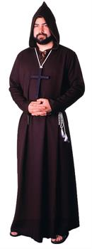 Brown Medieval Monk Costume