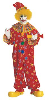 Adult Colorful Clown Costume