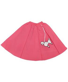Poodle Skirt Pink 1 Size Child
