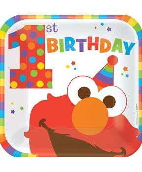 ELMO 1ST SQUARE PLATE 9IN