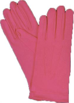 Hot Pink Gloves With Snap