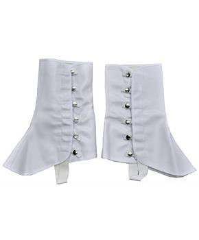 Tall White Vinyl Spats