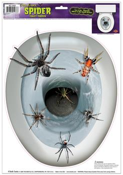Men's Spider Toilet Topper - Standard for Halloween