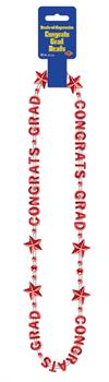 Women's Congrats Grad Beads Red - Standard