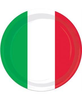 Red White and Green Plates