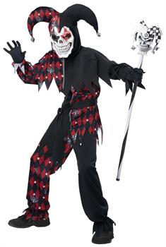 Boys Sinister Jester Child Costume
