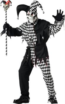 Men's Adult Evil Jester Costume