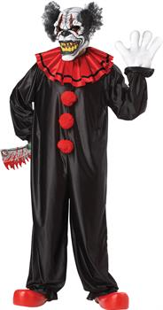 Men's Adult Evil Clown Costume - One Size for Halloween