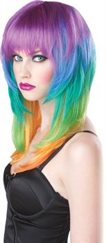 Women's Kaleidoscope Wig - One size fits most adults