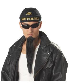 Men's Biker Goatee - Color: Black for Halloween