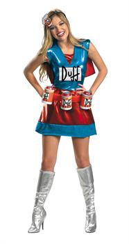 The Simpsons Duffman Women's Costume