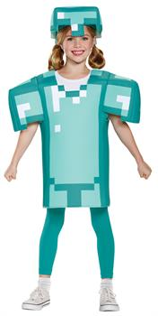 Girls Minecraft Armor Classic 7-8 for Halloween