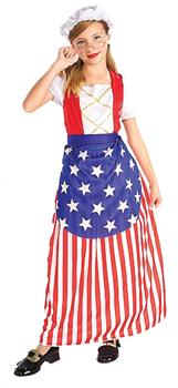 Girls Girl's Betsy Ross Costume