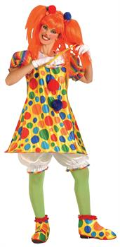 Women's Giggles Clown Costume - One Size