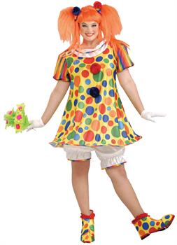 Women's Giggles The Clown Costume - Plus 18-22