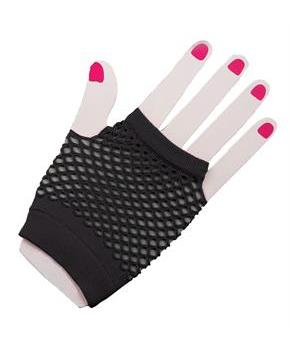 80s Black Fishnet Gloves