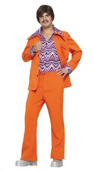 Men's Orange Leisure Suit Costume