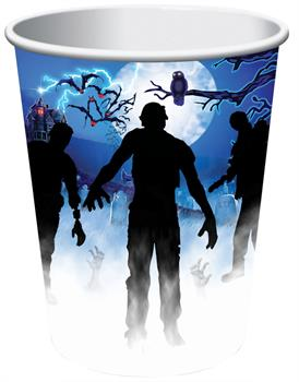 ZOMBIE PARTY CUPS 9 OZ 8 PCS