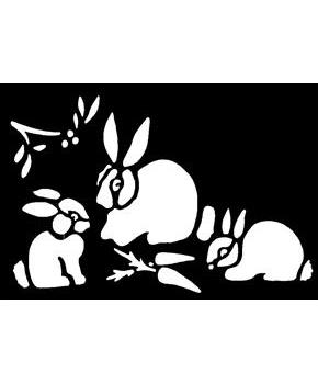 Brass Bunnies Stencil
