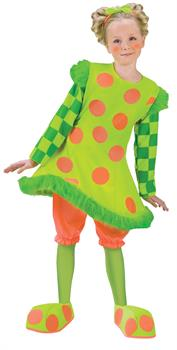 Girls Lolli The Clown Girl's Costume
