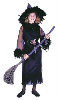 Girl's Feather Witch Costume
