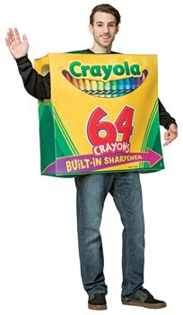 Men's Crayola 64 Ct Box Tunic Adult Costume - Standard
