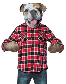 Bull Dog Mask with Paws