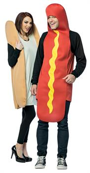 Hot Dog and Bun Couples Costume