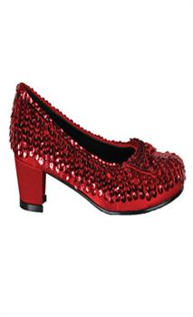 Shoe Sequin Red Child