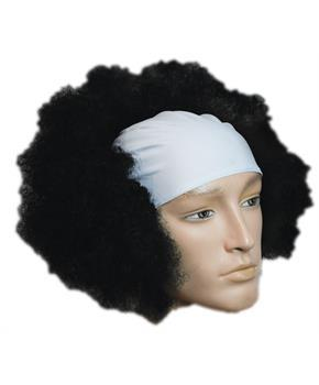 BALD CURLY CLOWN WT FRONT BLACK WIG