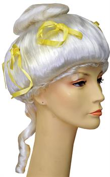 Colonial Lady Deluxe Wig with Ribbons