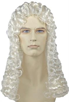JUDGE DELUXE WIG WHITE