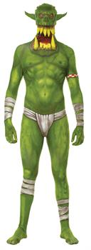 Boy's Green Orc Morphsuit Costume