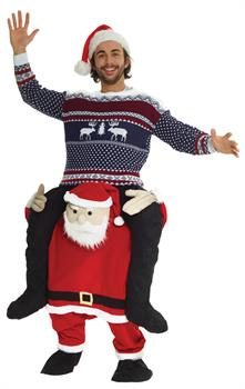 Men's Santa Piggyback Adult - Standard