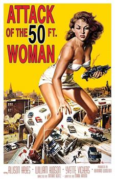 50 Feet Woman Movie Poster Cling