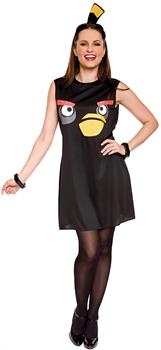 Women's Angry Birds Sassy Black Bird Costume