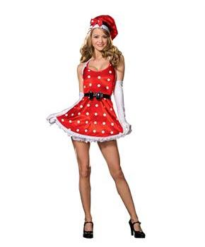 Women's Holiday Pinup Costume