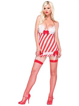Candy Cane Dress With G Strg