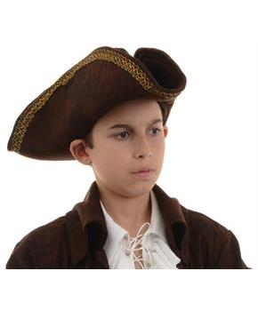 PIRATE CAPTAIN HAT BROWN