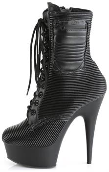 "6"" Heel, 1 3/4"" PF Lace-Up Front Ankle Boot, Side Zip"