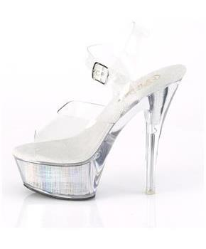 "6"" Heel, 1 3/4"" PF LED Illuminated Ankle Strap Sandal"