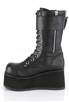 "3 1/2"" PF Lace-Up Mid-Calf Boot, Back Zip"